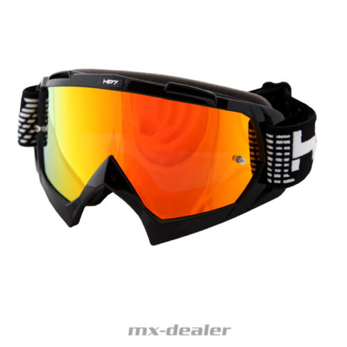 HP 7 hp7 MX Lunettes Noir Rouge Miroir Motocross Enduro MTB BMX Crossbrille