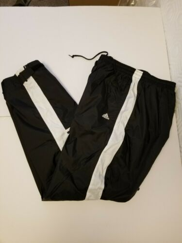Vintage Adidas Black Nylon Lined Mens Trackpants L