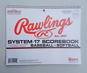 132293d0ef7f Image is loading Rawlings-System-17-Baseball -Softball-Scorebook-Official-Quick-