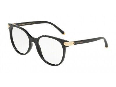 Creativo Montatura Occhiali Da Vista Dolce & Gabbana Autentici Dg5032 Nero 501