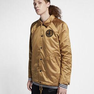 Details about Nike Jacket Sportswear Air Force 1 AF1 BlueOrange Woven Varsity Men's Large