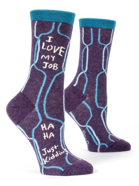 35f7885f285c Ladies Funny Ankle Socks Work Gift Love My Job - Just Kidding Office ...