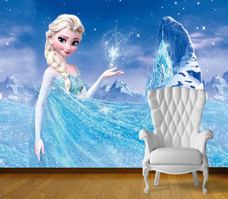 Congelés Elsa Décor Mur Adhésif Art Mural Photo papier peint Self Adhésif Mur Vinyle Imprimé 0e1398