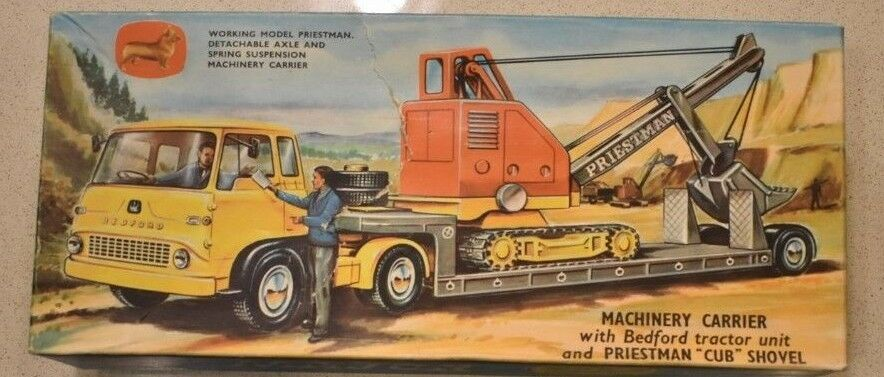 RARE Corgi Die Cast Major Gift Set No. 27 Bedford Tractor and Priestman Shovel