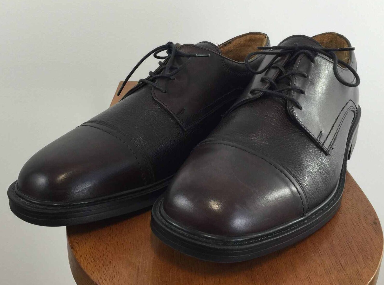 BOSTONIAN Mens Cap Toe Oxford Dark Burgundy Burgundy Burgundy Leather schuhe Made in ITALY Größe 12M b32b86