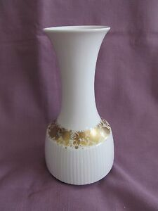 Image Is Loading Vtg Rosenthal Germany White Amp Gold China Vase