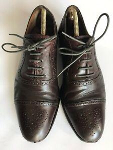 Dunhill L1y203r En Cuir Marron Foncé Cap Richelieu à Chaussures Oxford-uk 8/eu 42/us 9-afficher Le Titre D'origine Dessins Attrayants;