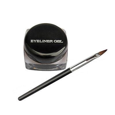 New Cosmetic Eye Liner Makeup Waterproof Eyeliner Gel Cream With Brush