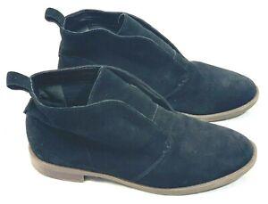 Booties Heel Pull Tab Leather