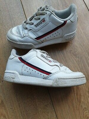 Adidas white red continental 80