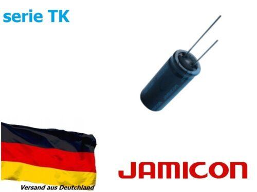 1 Stück Elko Kondensator radial Jamicon 10000uF 25V Ø18x42 105°C serie TK