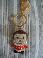 Fabulous King / Queen / Prince/ Princess Monkey With A Crown Bling Key Chain L1