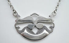 Stunning Vintage Ola Gorie Scottish Sterling Silver Pendant Necklace from Orkney