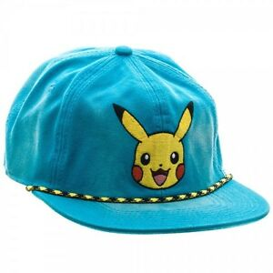 sports shoes 30365 210b7 Image is loading POKEMON-PIKACHU-WASHED-UNSTRUCTURED-6-PANEL-SNAPBACK-HAT-