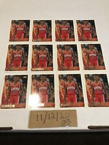 12-Card-Lot-1996-97-Topps-Allen-Iverson-Rookie-Beautiful-Cards-HOF-171-76ers
