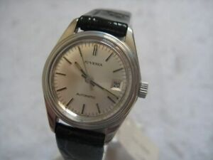 NOS-NEW-SWISS-VINTAGE-AUTOMATIC-DATE-STAINLESS-ST-JUVENIA-WOMEN-039-S-WATCH-1960-039-S