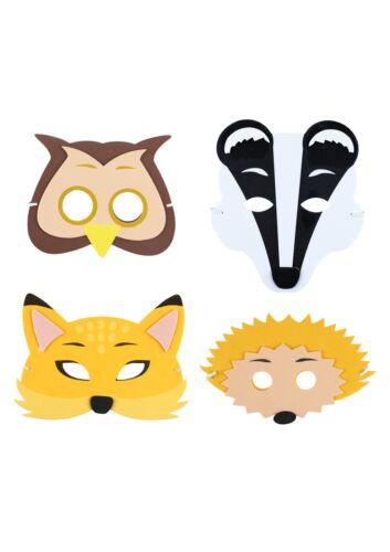 Fancy Dress Foam Woodland Animal Masks EVA Mask Party Bag Filler Child 10//20//30+