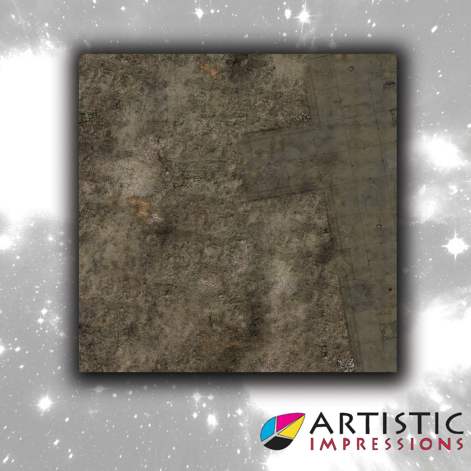 Vinyl 4x4' Outpost Gaming Gaming Gaming Mat - Ideal for Warhammer e20