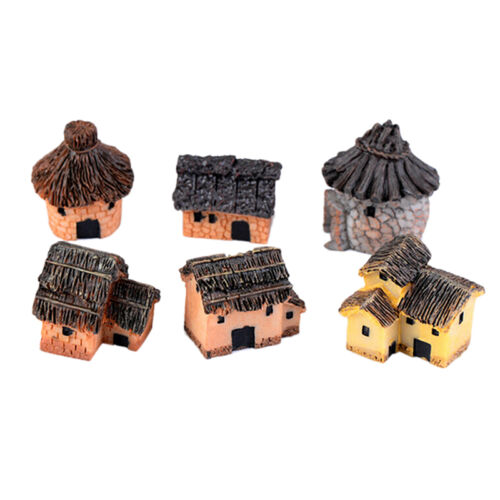 1//6X Mini Thatched House  Miniature Fairy Landscape Craft Micro Garden M/&R