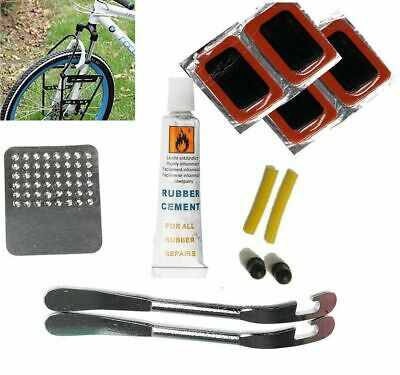 QKURT Bicycle Levers Tyre Patches Rasp Tool for All Inflatable Inner Tubes in Road Emergency Bike Puncture Repair Set Bicycle Inner Tube Repair Kits