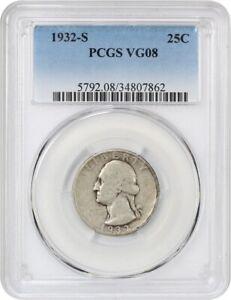 1932-S-25c-PCGS-VG-08-Key-Date-Washington-Quarter-key-date