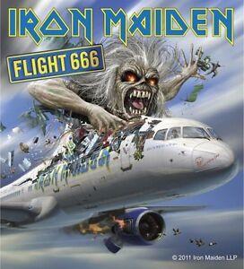 sticker iron maiden flight 666 album cover art english