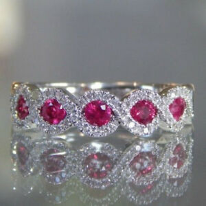 Ruby-Gemstone-White-Gold-Women-Fashion-Jewelry-Ring-Wedding-Engagement-Size-6-10
