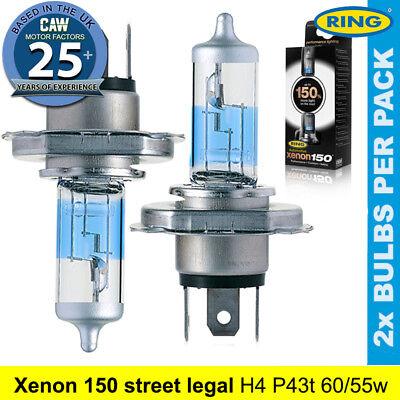 New In Box 2 x H4 472 Headlamp Headlight Car Bulbs 12V 60//55W 3 Pin
