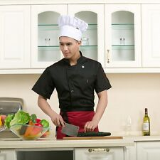 Chef Jacket Coat Chef Uniform Kitchen Men's Short Sleeve Cooker Restaurant Work