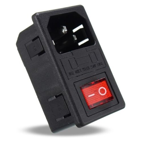250V 10A AC 3 in 1 Fuse Power Supply Socket Connector Rocker Switch