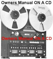 TASCAM 34B  REEL TO REEL OWNERS  MANUAL ON CD 36 PAGES FREE SAME DAY SHIPPING