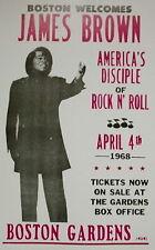 "James Brown Concert Poster - 1968 - Boston Gardens, Boston, MA - 14""x22"""