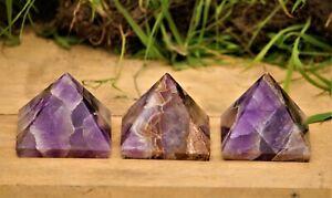 Natural-Auralite-23-Stone-Healing-Charged-Reiki-amp-Chakras-Egyptian-50MM-Pyramid