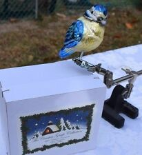 German Christmas Ornament Carsten Grafe Collection - Blue Bird clip on