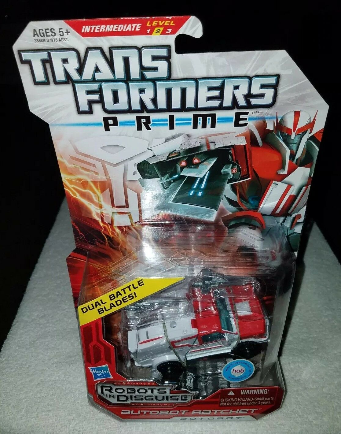 Hasbro Transformers Prime Robots In Disguise Autobot Ratchet Deluxe Class Nuovo