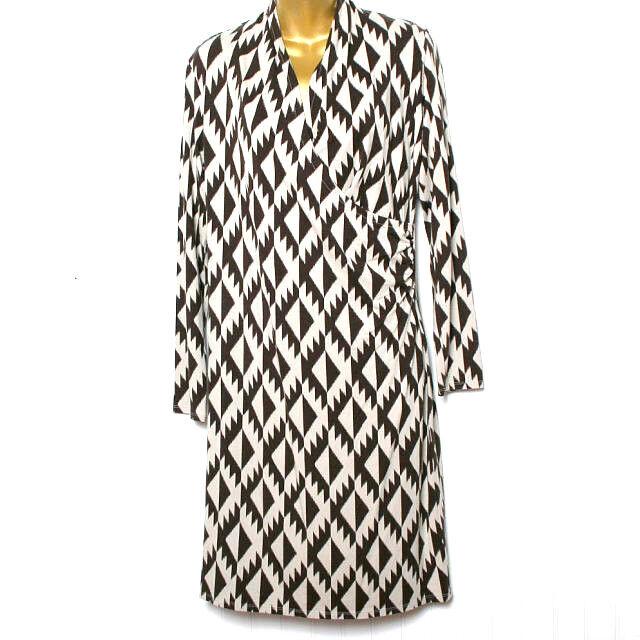 J Jill Brown Tan Faux Wrap Dress Small
