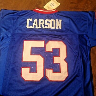 NY GIANTS #53 HARRY CARSON THROWBACK BLUE JERSEY SIZE 48 | eBay