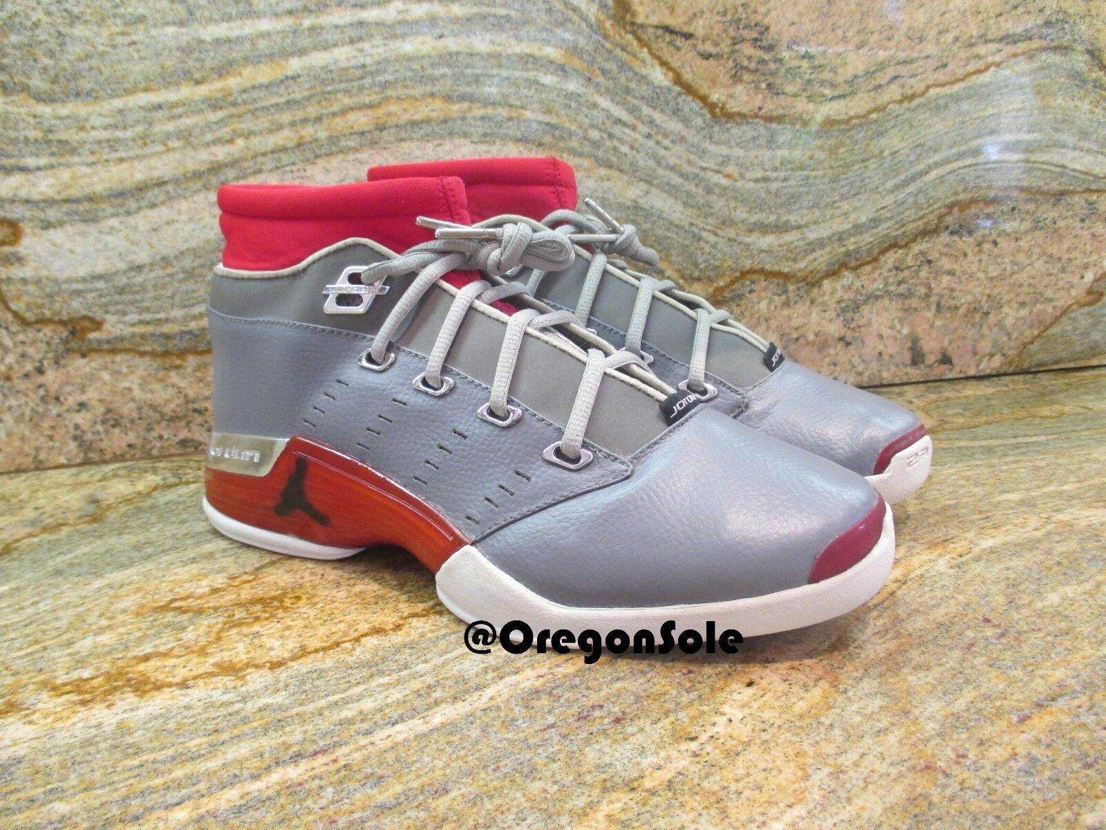 2001 Nike Air Jordan 17 XVII Low UNRELEASED SAMPLE SZ 9 Promo Red OG PE Chrome