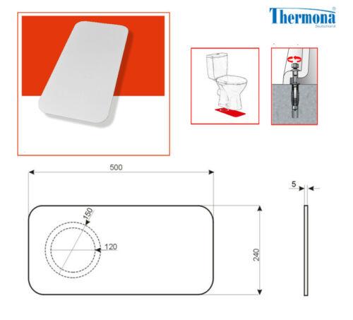 Befestigung für Stand WC und Schallschutz  9 teilig weiß Schrauben Dübel Kappen