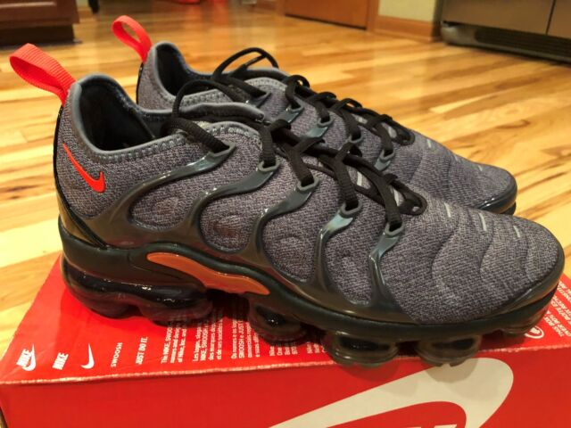 c41ad64412b3a Frequently bought together. Nike Air Vapormax Plus Cool Grey Team Orange  924453 012 Men s ...