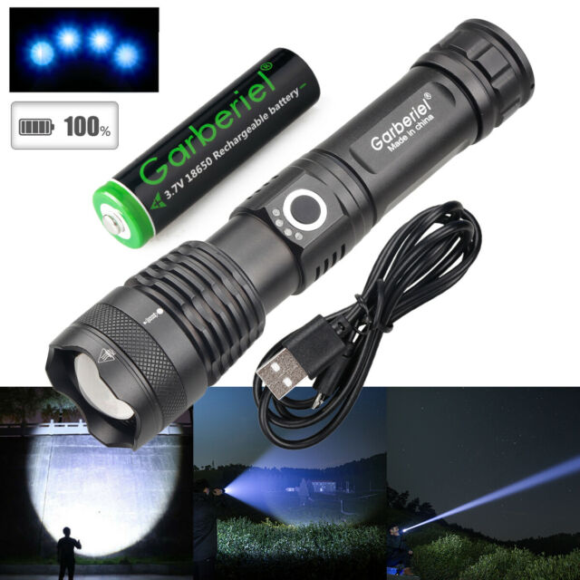 UltraFire 50000LM T6 LED 18650 Super Bright Zoom Flashlight Powerful Lamp Torch