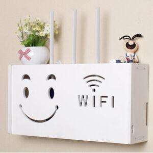 Smile-Storage-Box-Wireless-Wifi-Router-Organizer-Shelf-Wall-Hanging-Bracket-Gift