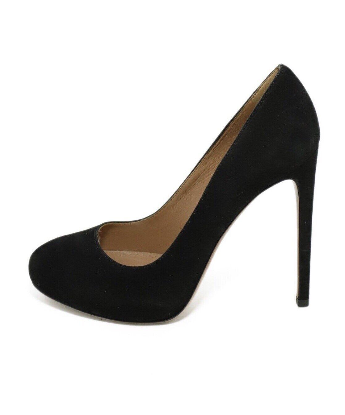 Azzedine Alaia BlackSuede Leather Heels Pumps Sz… - image 3