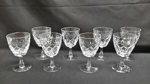 Webb-Corbett-Prince-Charles-Set-of-8-Water-Goblets-No-Cut-Foot
