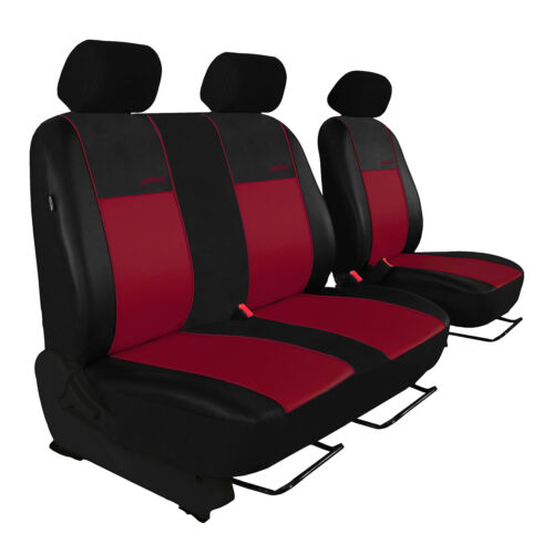Coprisedili Auto Per Peugeot Partner II dal 2008 2+1 SEDILI ANTERIORI ROSSO SCURO riferimento