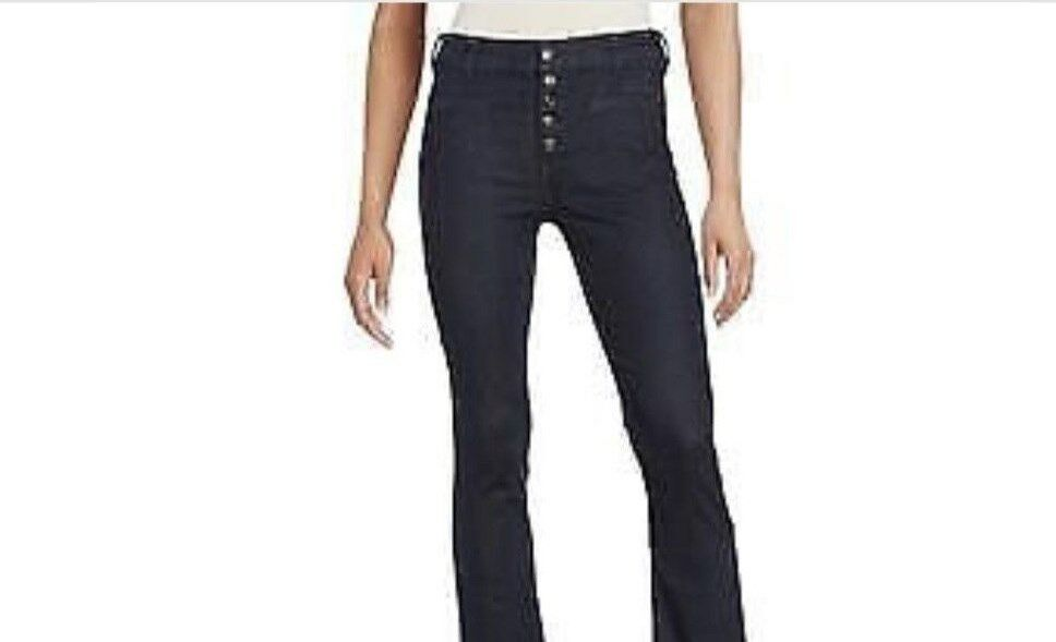 B2-0701 Free People Jeans NWT Button Fly Distressed Hem Size 24