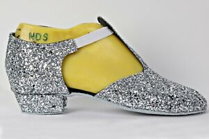Silver-Rock-Glitter-Full-Suede-Sole-Greek-Sandal-Covered-Heel
