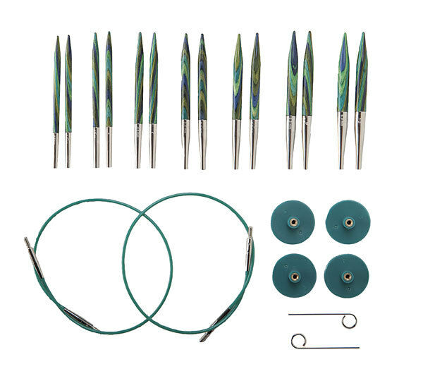 Knit Picks Try IT Square Wood and Metal Interchangeable Knitting Needle Set US