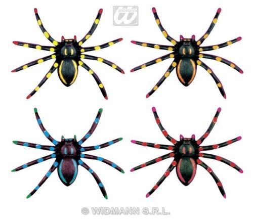 Giant Spiders  4 x large neon spiders  Halloween Decoration prop