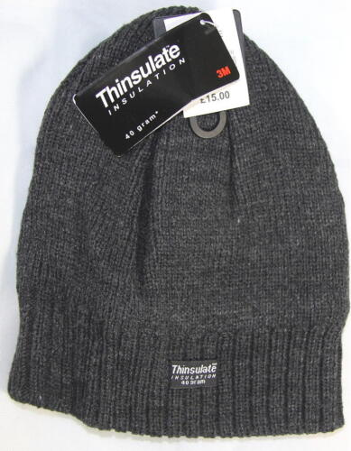 Thinsulate Beanie hat 40g Unisex Acrylic fleece Winter thermal 3M one size